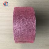 Wholesale Christmas Gift Wrap Decoration Woven Silk Glitter Metallic Ribbon