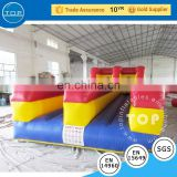 New design bouncy castle water slide interactive inflatable bungee run with great price