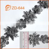 flower shape braided leather trim for garment