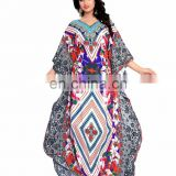 Women's Multi-Colour Stripped & Floral Style 3D Digital Printed Straight Kurta (kaftan dress)