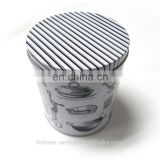 Simple round tin canisters,tin packaging