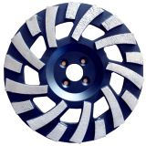 Turbo Segment Tornado Grinding Cup Wheel Diamond Grinding Cup Wheel Disc for Concrete Granite Marble Stone