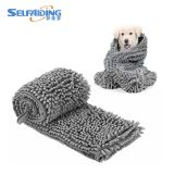 2019 Hot Sell Pet Grooming Dog Towel Ultra Soft Microfiber Chenille Dog Pet Bath Dry Towel Absorbent Thick Warm Pets Bath Towel