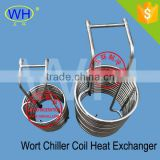 "1/2"" Wort Chiller Coil Heat Exchanger 304 stainless steel immersion coil heat exchanger"
