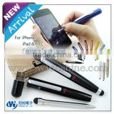 Christmas gift item ! 3 in 1 writing instruments , mini capacitive stylus ball pen
