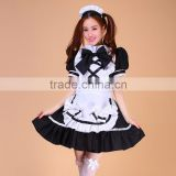 High Quality Black Sexy Skirt Lolita Maid Dress Costume Anime Japanese Cosplay Sex Halloween Costume Sexy Fancy Dress