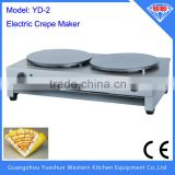 double sided crepe maker electric crepe making machine &electric crepe stick maker & electric commercial 2 plate crepe machine