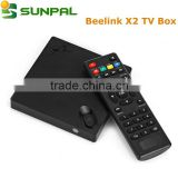 Original cheap android dongle smart tv box media players beelink x2 tv box 4k h.265 decoding                                                                         Quality Choice