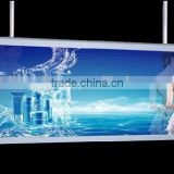 New design super slim double sides acrylic LED advertising light box, slim led sign for haning application