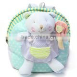 stuffed animal backpack for school/plush school bag for child/plush school bags