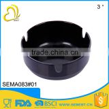 Hot wholesale portable custom size black melamine plastic ashtrays
