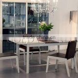 Lastest Glass Dining Table Modern Customized Dinner Set with Chairs(SZ-DT101C)