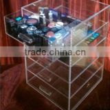Clear Table Top Acrylic Makeup Display with 5 drawers