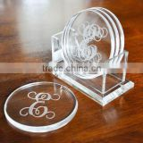 Clear Acrylic Coasters Acrylic Drink Coasters Coasters Display Stand                                                                         Quality Choice