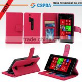 Factory Price Wallet Smart Phone Leather Case With Stand For Nokia Lumia 928