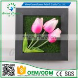 Greenflower 2016 Wholesale 3D Wall Frame Tulips artificial flowers arts and crafts making wedding Home decorations