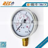 Safety process 316 Stainless steel case turbo pressure gauge