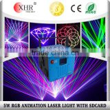 RGB Animation Disco DJ Equipment 5W Outdoor Stage Laser Projektor with SD Card