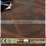 Antique hand scraped distressed laminate parquet