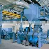 ISO Approved Automatic Steel Wire Rod Buffing Machine, Dust-free Steel Rod Blasting Machinery