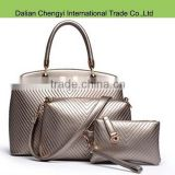 Newest costly fashion pu leather handbags for lady