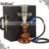 Wholesale Colorful Best price Shisha Hookah Glass with LED light Act clear Glass Hookah