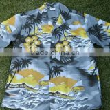 100% Cotton men 2014 custom hawaiian shirts