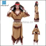 Carnival sexy girl indian costumes holiday/Pocahontas Tiger Lily Indian costume products