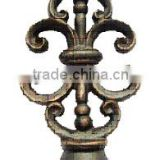 "Ancient Gold Scroll Wrough Iron Curtain Rods Finials For 1.25"" (31.7mm) Curtain Rods"
