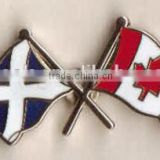 Die cast National Flag Pin Badge epoxy metal pin badge gold plating badge