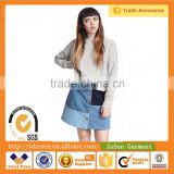 Best Buy Ladies A-Line Denim Mini Short Skirt With Color Block New Model Girl Dress For Women