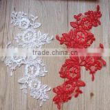 Wedding Dress Crochet Alencon Lace Flower Applique,Bridal Neck Collar Lace Applique,Embroidery Lace Cotton Patches For Clothing