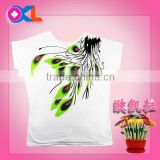 Super quality great material professional kids girls t shirt