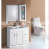 Wholesale Wall Hanging Wooden Modern Bathroom Mirror Cabinet