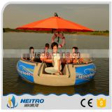 HEITRO popular!!! OEM best price leisure life boats for sale BBQ Donut Boat restaurant boat (10 persons type)