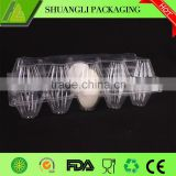 Highly transparent clamshell PVC blister packaging for eggs