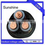 LSOH insulated outdoor 8.7/15 (17.5) KV 3*400mm2 three core MV cable