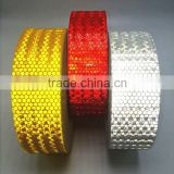 New Product ! CHEAP and Good Quality crystal lattice filmed honey comb type PVC refctive tapes for trailers (5cm width)