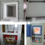 Vacuum contolled gas atmosphere furnace with accurate air/inert gas flow rate control
