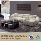 Dubai sofa furniture top grain leather corner sofa/luxury italian genuine leather sofa set