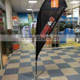 double side print Polyester flying Banner Flag Stand Teardrop Flag fabric Banner