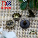 Metal Button Antique Brass Jeans Rivet with Custom Logo,Apparel Jeans Rivet Buttons for Jeans