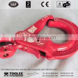 1215-Clevis Safety Hook with Grip for double safety/ chain sling hook With Self-Locking Latch G80