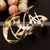 New Fashion Women Girl Jewelry Gold Plated Open Cuff Bangle Charm Bracelet