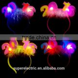 Professional design 2016 new high quality led hair pin wholesale cheap kids plastic led head band