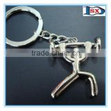 3D sports weight lifting athlete keychain/weight lifting athlete keyring for promotion