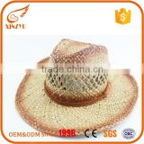 Promotions sandy beach hat lovely raffia straw cowboy hat wholesale