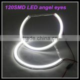 Car Accessory for bmw E46 non projector SMD LED Angel eyes with 120 LED 3014 chips led halo rings light