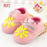 303 2015 Spring New Girls Cute Floral Dress Shoes Children Shoes