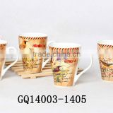 11oz cups bone china dinnerware with decals high quality good sale animal pattern